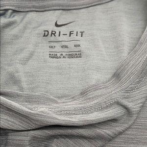 Nike Shirts - NIKE BREATHE DRI FIT ATHLETIC T SHIRT 4XLT GRAY